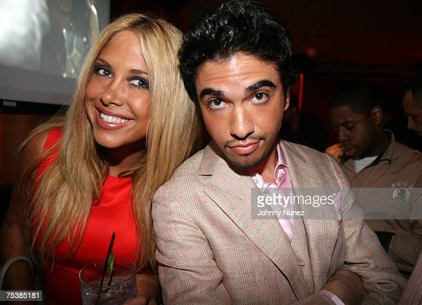 Cassidy and Samantha Cole attend DJ Cassidy's 26th Birthday Party on July 11 2007 in New York City