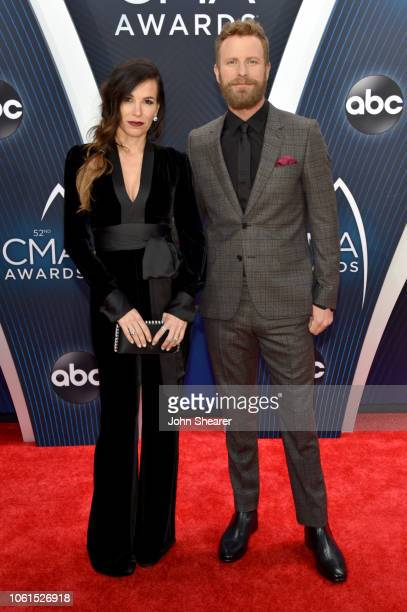 Cassidy Black and Singer Dierks Bentley attend the 52nd annual CMA Awards at the Bridgestone Arena on November 14 2018 in Nashville Tennessee