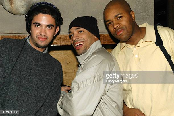 DJ Cassidy DJ Mel DeBarge and DJ DNice during DJ Cassidy Spins at Bunny Chow Tuesdays at Cain March 15 2005 at Cain in New York City New York United...