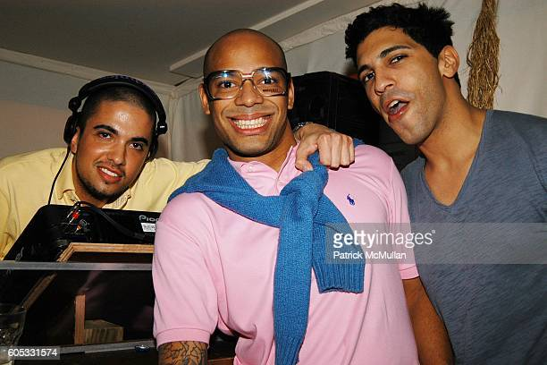 DJ Cassidy DJ Mel DeBarge and Terek Overtali attend DJ Cassidy and Fonzworth Bentley Host BUNNY CHOW Sunday at CAIN Southampton Club on May 28 2006...