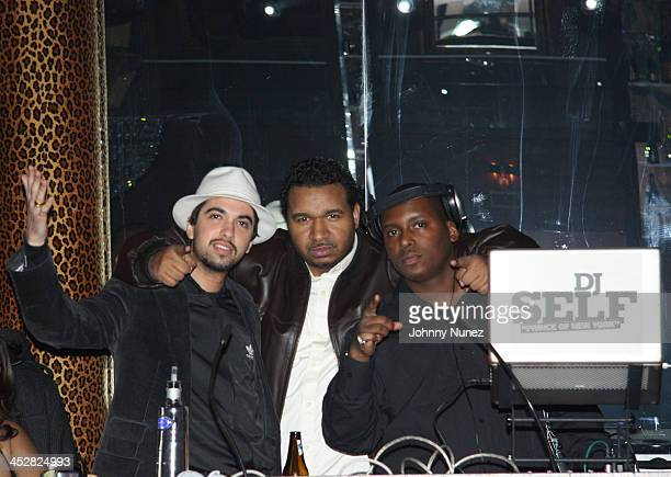 DJ Cassidy DJ SussOne and DJ Self attend DJ Clue's and Valeesha Butterfield's birthday party at M2 Ultra Lounge on February 2 2009 in New York City