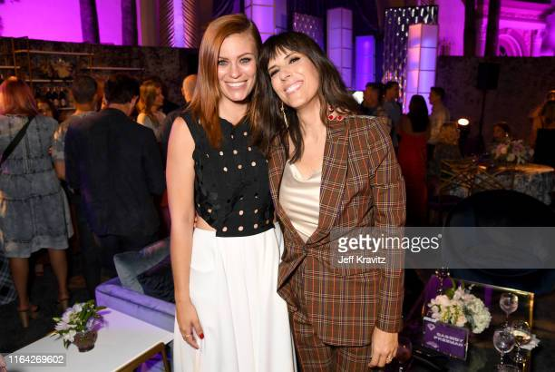 Cassidy Freeman and Edi Patterson attend HBO's The Righteous Gemstones premiere at the Paramount Theatre on July 25 2019 in Los Angeles California
