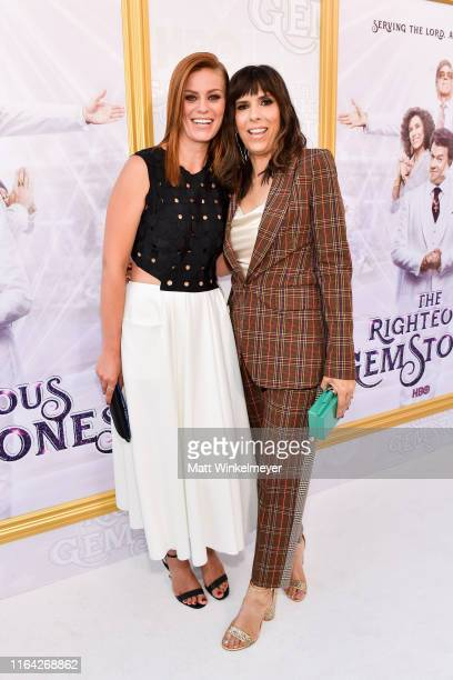 Cassidy Freeman and Edi Patterson attends the Los Angeles premiere of New HBO Series The Righteous Gemstones at Paramount Studios on July 25 2019 in...