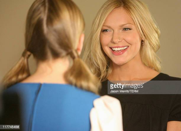 Cassidy Freeman and Laura Prepon during Laura Prepon Shoots a Short Film with Stayfree Girls in the Director's Chair at Private Residence in Los...