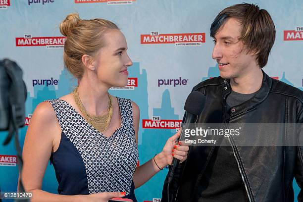 """Cassidy Gard interviews Mark Grimmie at the Red Carpet Premiere Of Stadium Media's """"The Matchbreaker"""" at the ArcLight Cinemas Cinerama Dome on..."""