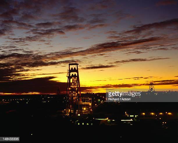 Cassidy Headframe at sunset - Kalgoorlie, Western Australia
