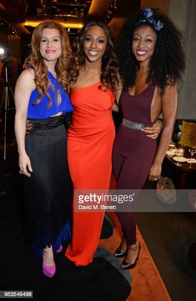 Cassidy Janson Alexandra Burke and Beverley Knight attend the press night after party for 'Chess' at St Martins Lane on May 1 2018 in London England