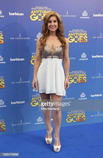 Cassidy Janson attends the press night of 'Anything Goes' at Barbican Theatre on August 04, 2021 in London, England.