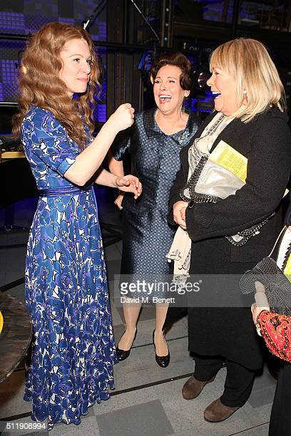 Cassidy Janson Diane Keen and Linda Robson attend the 1st Birthday Gala Performance of Beautiful The Carole King Musical at The Aldwych Theatre on...