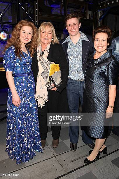 Cassidy Janson Linda Robson Alan Morrissey and Diane Keen attends the 1st Birthday Gala Performance of Beautiful The Carole King Musical at The...