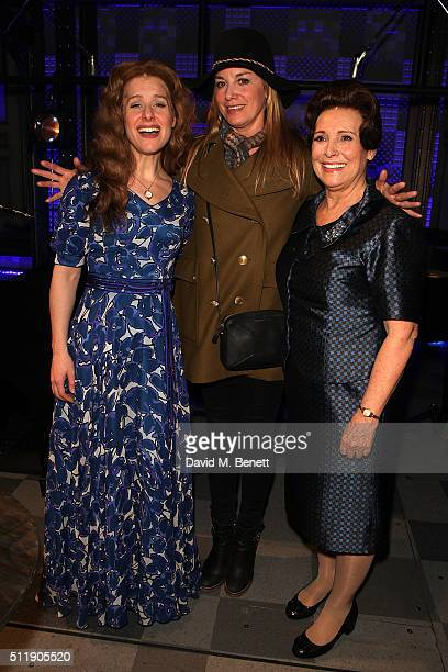 Cassidy Janson Tamzin Outhwaite and Diane Keen attend the 1st Birthday Gala Performance of Beautiful The Carole King Musical at The Aldwych Theatre...