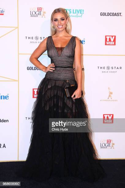 Cassidy McGill arrives at the 60th Annual Logie Awards at The Star Gold Coast on July 1 2018 in Gold Coast Australia