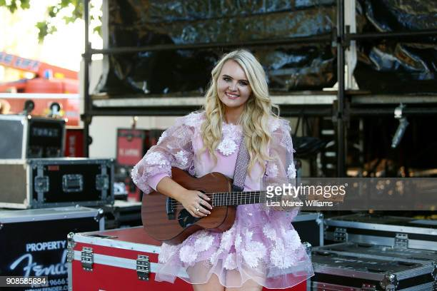 Cassidy Rae Gaiter poses during the 2018 Star Makers Final at the Toyota Country Music Festival Tamworth on January 21 2018 in Tamworth Australia