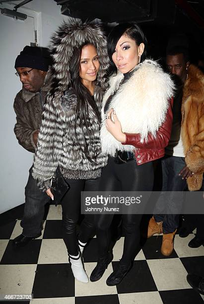 Cassie and Bridget Kelly attend Cam'ron's KillaBowl at WIP on February 2 2014 in New York City