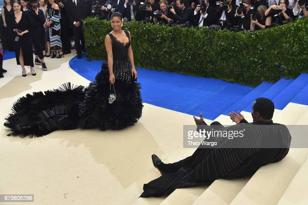 Cassie and Sean Diddy Combs aka Puff Daddy attend the Rei Kawakubo/Comme des Garcons Art Of The InBetween Costume Institute Gala at Metropolitan...
