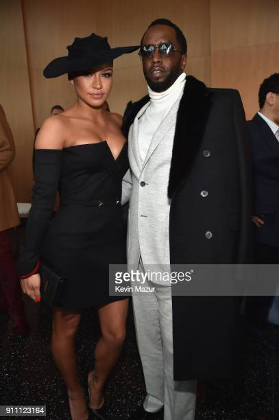 Cassie and Sean 'Diddy' Combs attend Roc Nation THE BRUNCH at One World Observatory on January 27 2018 in New York City