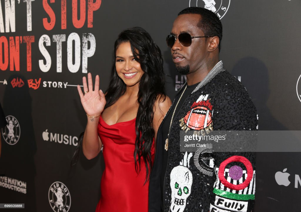 Cassie and Sean 'P. Diddy' Combs attend the Los Angeles Premiere Of 'Can't Stop Won't Stop' at Writers Guild of America, West on June 21, 2017 in Los Angeles, California.