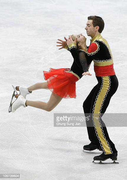Cassie Andrews and Timothy Leduc of United States compete in the Pairs Free on day four of the 2011 World Junior Figure Skating Championships at...