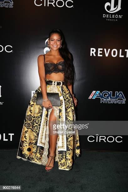 Cassie attends Sean Diddy Combs Hosts CIROC The New Year 2018 Powered By Deleon Tequila at Star Island on December 31 2017 in Miami Florida