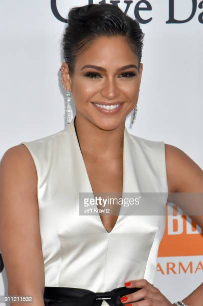 Cassie attends the Clive Davis and Recording Academy PreGRAMMY Gala and GRAMMY Salute to Industry Icons Honoring JayZ on January 27 2018 in New York...