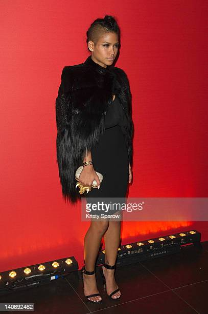Cassie attends the Givenchy afterparty as part of Paris Fashion Week at L'Arc on March 4 2012 in Paris France