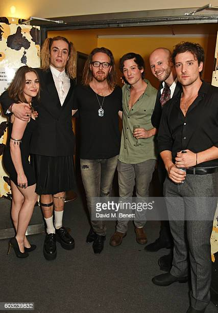 Cassie Compton Greg Oliver Tim Minchin Sam Cassidy Ryan Gibb and Jack Donnelly attend the press night performance of 27 at The Cockpit Theatre on...