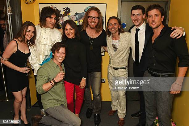 Cassie Compton Noel Fielding Sam Cassidy Arlene Phillips Tim Minchin Ryan Molloy Jason Kajdi and Jack Donnelly attend the press night performance of...