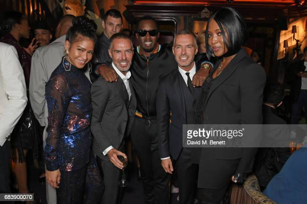 Cassie Dan Caten Sean 'Diddy' Combs Dean Caten and Naomi Campbell attend the 'Can't Stop Won't Stop A Bad Boy Story' dinner hosted by Sean 'Diddy'...