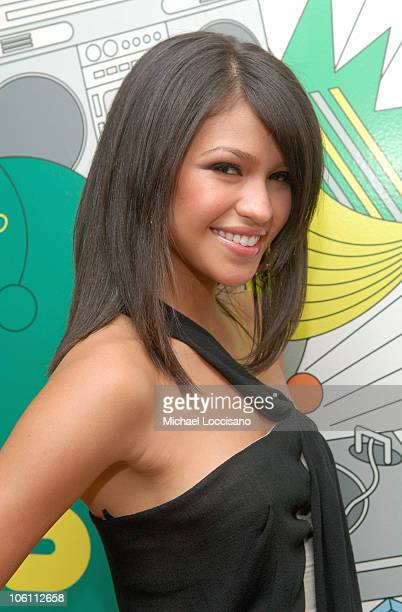Cassie during Cassie and James Blunt Visit MTV's 'TRL' September 29 2006 at MTV Studios Times Square in New York City New York United States