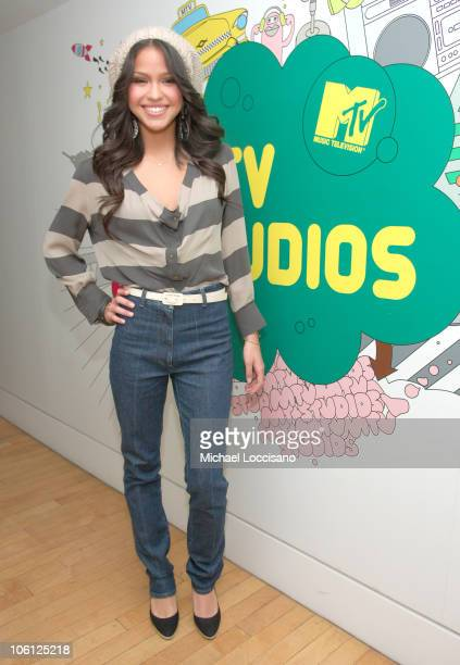 Cassie during Cassie Visits MTV's TRL November 16 2006 at MTV Studios Times Square in New York City New York United States