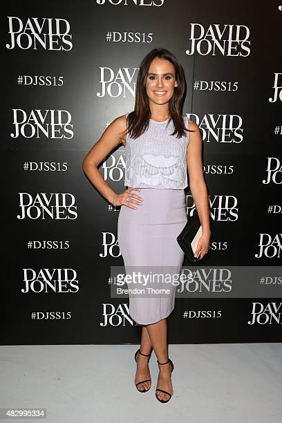 Cassie Howarth arrives ahead of the David Jones Spring/Summer 2015 Fashion Launch at David Jones Elizabeth Street Store on August 5 2015 in Sydney...