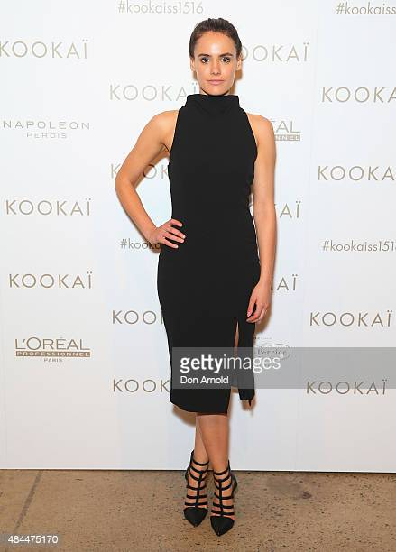 Cassie Howarth arrives ahead of the KOOKAI Spring/Summer 2016 runway show at Carriageworks on August 19 2015 in Sydney Australia