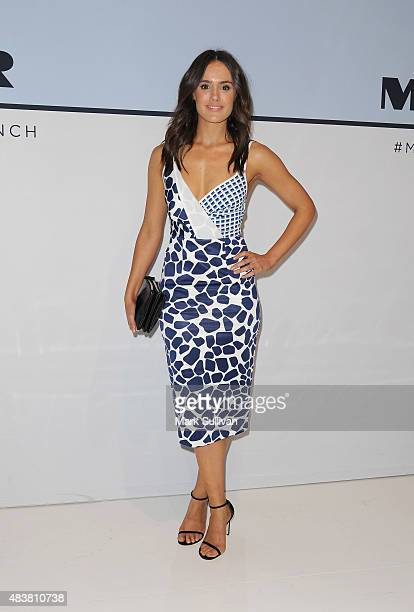 Cassie Howarth arrives ahead of the Myer Spring 2015 Fashion Launch on August 13 2015 in Sydney Australia