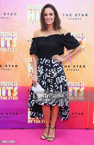 Cassie Howarth arrives ahead of the Summer Hits At The Star launch party on December 3 2015 in Sydney Australia