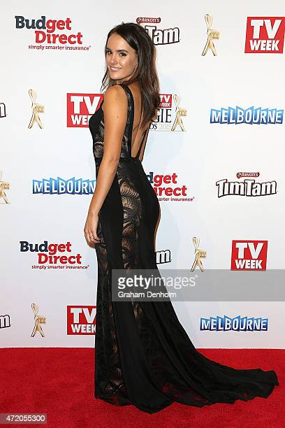 Cassie Howarth arrives at the 57th Annual Logie Awards at Crown Palladium on May 3 2015 in Melbourne Australia