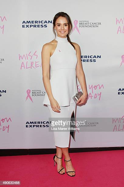 Cassie Howarth arrives at the 'Miss You Already' Gala premiere at the State Theatre on September 30 2015 in Sydney Australia