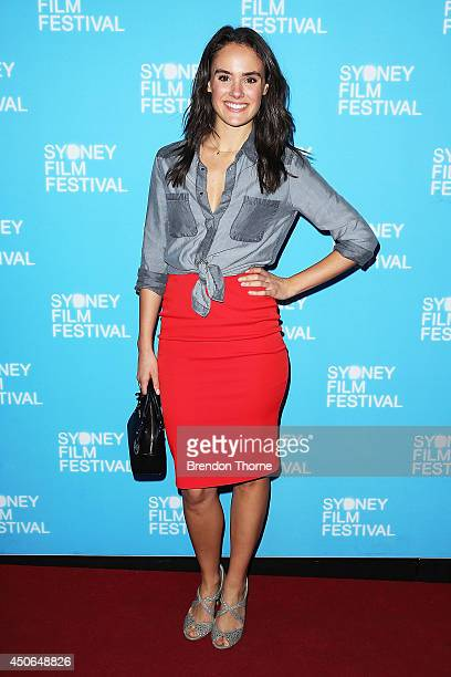 Cassie Howarth arrives at the Sydney Film Festival Closing Night Gala at the State Theatre on June 15 2014 in Sydney Australia