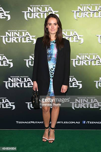 Cassie Howarth arrives at the Sydney Special Event Screening of Teenage Mutant Ninja Turtles at The Entertainment Quarter on September 7 2014 in...