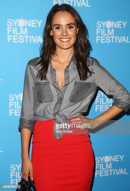 Cassie Howarth poses at the Sydney Film Festival Closing Night Gala at the State Theatre on June 15 2014 in Sydney Australia