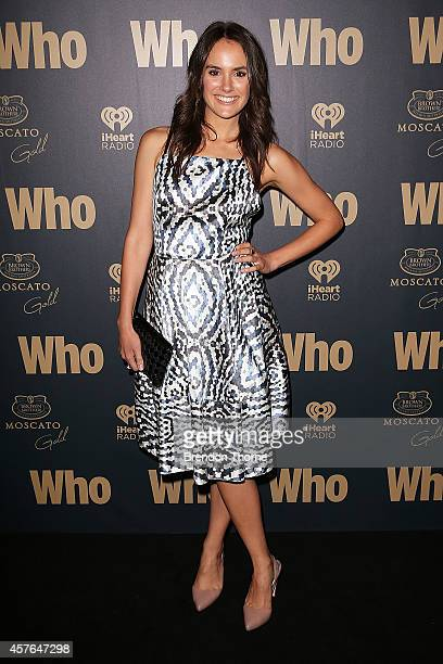 Cassie Howarth poses at WHO's sexiest people party 2014 at Fox Studios on October 22 2014 in Sydney Australia