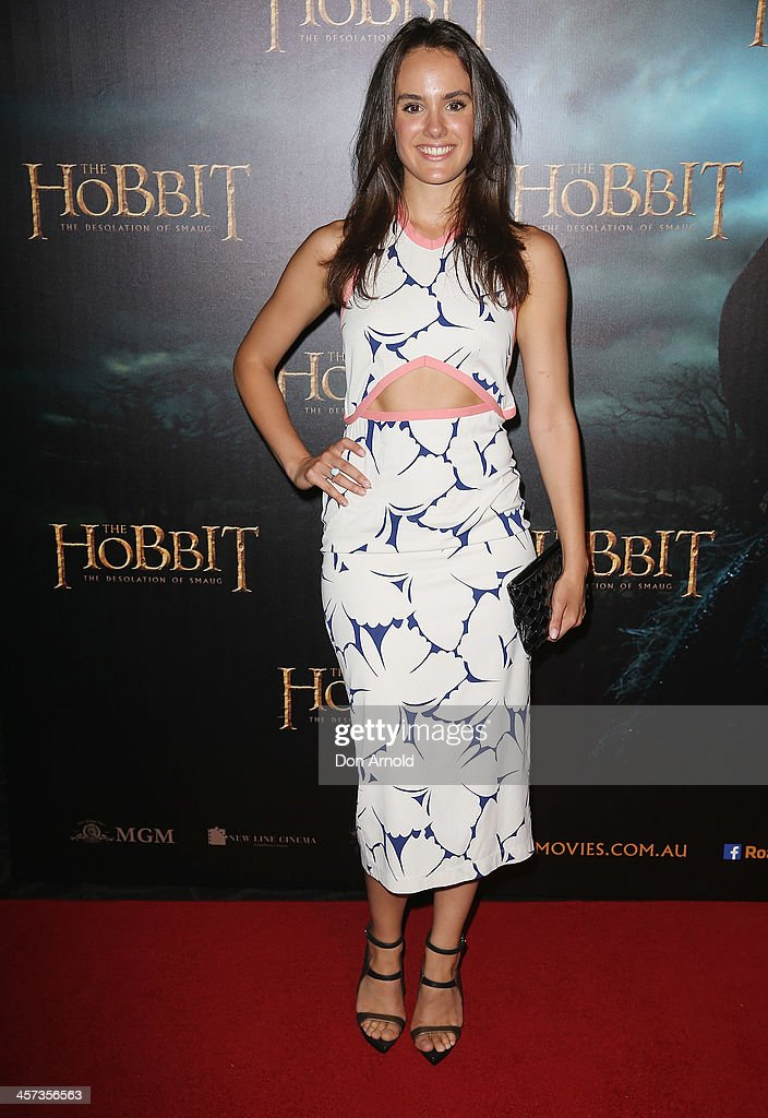 Cassie Howarth poses during the Sydney premiere for The Hobbit: Demolition Of Smaug at Event Cinemas George Street on December 17, 2013 in Sydney, Australia.