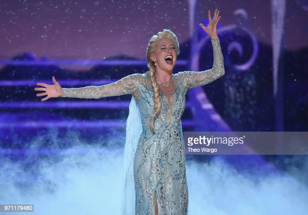 Cassie Levy from Frozen performs onstage during the 72nd Annual Tony Awards at Radio City Music Hall on June 10 2018 in New York City