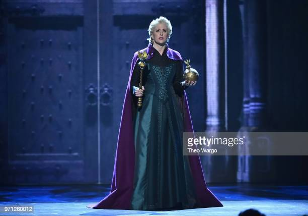 Cassie Levy from the cast of Frozen performs onstage during the 72nd Annual Tony Awards at Radio City Music Hall on June 10, 2018 in New York City.