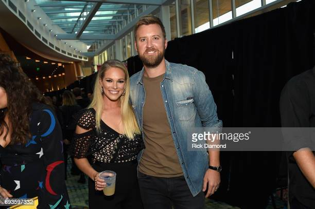 Cassie McConnell and Charles Kelley attend the 2017 CMT Music awards at the Music City Center on June 7 2017 in Nashville Tennessee