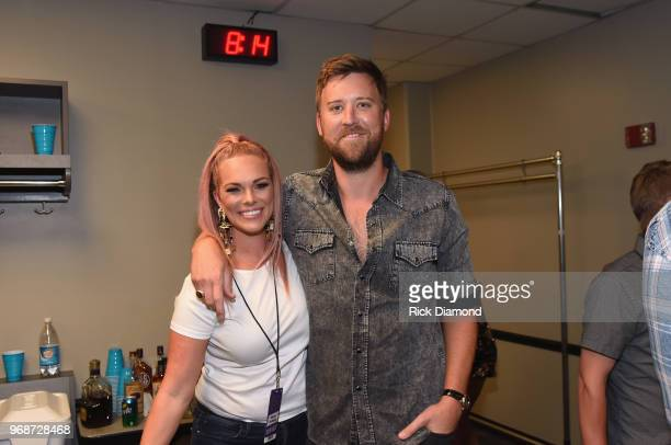 Cassie McConnell and Charles Kelley attend the 2018 CMT Music Awards Backstage Audience at Bridgestone Arena on June 6 2018 in Nashville Tennessee