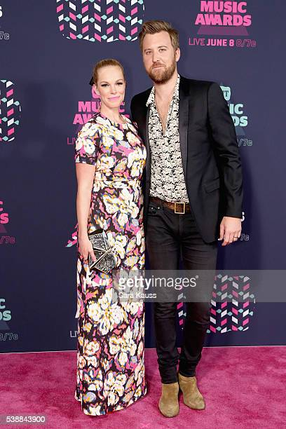Cassie McConnell and Charles Kelly attend the 2016 CMT Music awards at the Bridgestone Arena on June 8 2016 in Nashville Tennessee