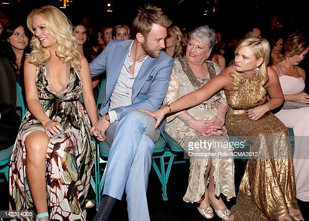 Cassie McConnell Charles Kelley grandma and Miranda Lambert at the 47th Annual Academy Of Country Music Awards held at the MGM Grand Garden Arena on...