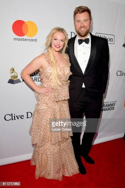Cassie McConnell Kelley and recording artist Charles Kelley of Lady Antebellum attend the Clive Davis and Recording Academy PreGRAMMY Gala and GRAMMY...