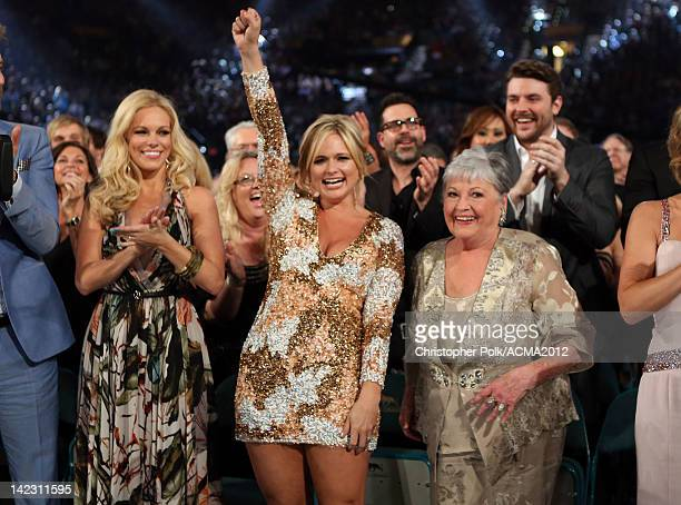 Cassie McConnell Miranda Lambert and her grandmother in the audience at the 47th Annual Academy Of Country Music Awards held at the MGM Grand Garden...