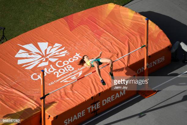 Cassie Purdon of Australia competes in the competes in the Women's High Jump final during athletics on day 10 of the Gold Coast 2018 Commonwealth...